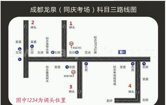 同庆考场三科目_成都龙泉同庆考场科目三一次性通过技巧分享(附路线图)